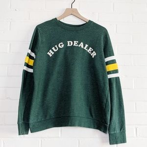 Mighty Fine Hug Dealer Varsity Stripe Sweatshirt